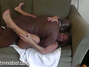 petite gilf gets BBC fucked together with creampied on the brush chaise longue
