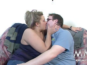 Naughty wife gets fat pair fucked