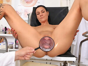 The man hot MILF examined by kinky doctor