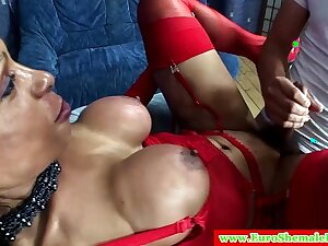 Italian shemale has her tight ass fucked