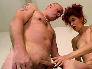 german unsightly skinny mature redhead housewife
