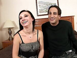 Adorable first timer gets fucked in their way porn debut