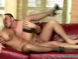 Bend Desist The Blonde For Anal