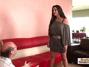 Brunette MILF cucks her husband unconnected with fucking a black man